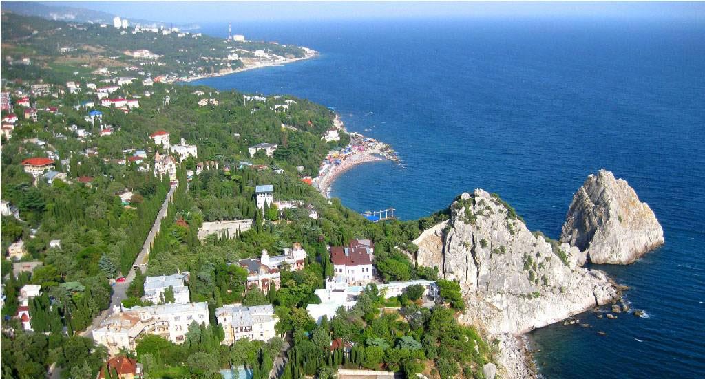 Крым, отдых в Симеизе - фото, карта, история, достопримечательности.