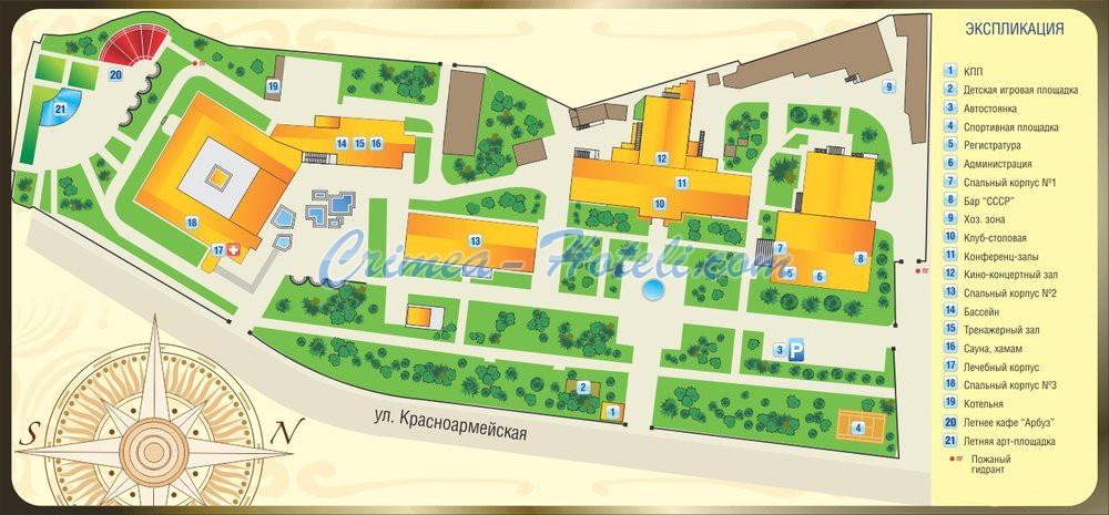 Схема курортного комплекса
